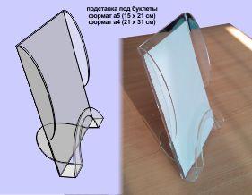 Прайс-лист на Меню-холдеры из оргстекла толщиной 2 мм или 3 мм