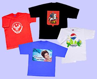 Описание продукции - футболки и печать на ткани